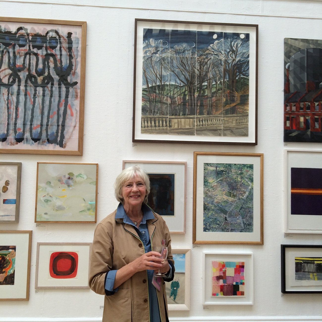Penny White with Four Moons iv RWA open exhibition 2015
